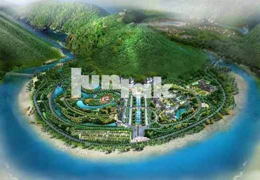 项目规模:85公顷 项目周期:2007年 项目位置:河南济源 项目投资:5亿元 委托单位:济源市城市水资源综合开发建设领导小组办公室 规划理念: 五龙口温泉,是我国少有的温泉资源,具有好、高、大的特点,温泉是旅游永恒的主题,社会经济愈发展,就愈能彰显它的魅力。它是高端旅游度假项目,是金字塔尖的产品。国内众多温泉中,五龙口温泉想要脱颖而出,必须以个性塑造优势,让文化注入温泉,使景区形成: 绝佳的温泉资源+秦汉文化+道家养生文化+沁园春词牌文化=五龙口温泉度假区。 规划以秦汉文化为主线,以温泉
