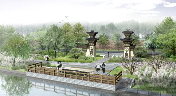 河南省鹤壁市淇水诗苑景观规划设计