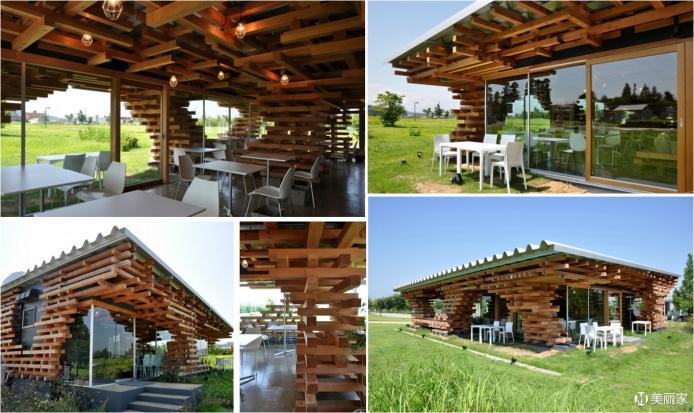 一、湿地休闲及案例 在湿地环境营造中我们常常设置许多小型的休闲屋设施,它们如同一把把在湿地的草坪上撑起的绿伞。为人们观赏时提供停留远眺、驻足、休闲、漫谈、遐想和感受自然的场所。一般有:酒吧、茶吧、书吧、餐厅、咖啡屋及休闲亭。 在一片绿色的大地,一个与自然无分割的迷你空间,属于我和朋友,这就是湿地休闲屋设计中我们要营造出的氛围。 让我们来看看几个优秀案例: 1.