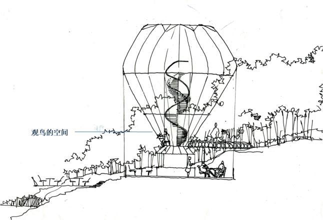 创意空间结构手绘